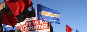 5000 auf Demonstration gegen die Einheitsfeierlichkeiten in Hannover