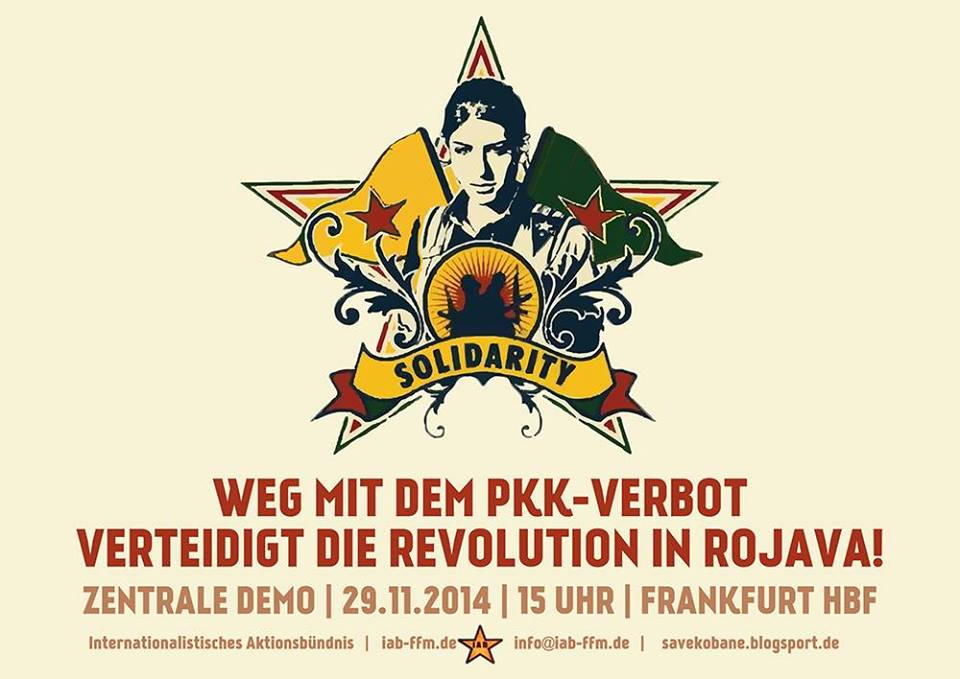 29.11./06.12.14 – Antinationaler Aufruf zu den Demonstrationen gegen das PKK-Verbot!
