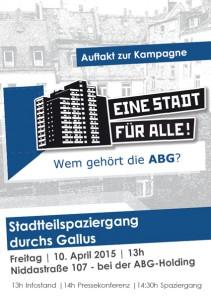 """Kampagnenstart """"Eine Stadt für Alle! – Wem gehört die ABG?"""""""