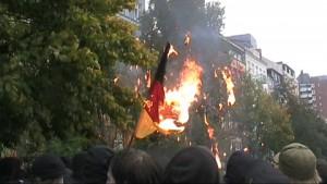 deutschlandfahne verbrennen