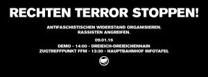 09.01.16 – Rechten Terror stoppen!