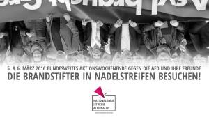 05.03.16 – Aufruf zum bundesweiten Antifa-Aktionswochenende am 5. & 6. März gegen die AfD und ihre Freunde